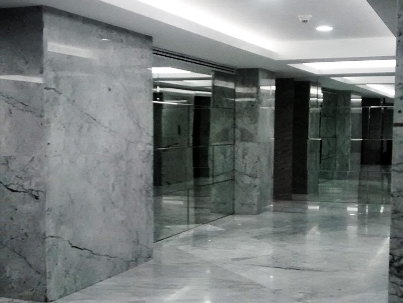 Remodelación de recepciones y sala de usos múltiples